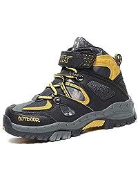 Littleplum Kids Hiking Shoes Walking Snow Boots Antiskid Steel Buckle Sole Waterproof Winter Outdoor Climbing Cotton Sneaker …