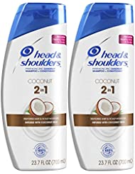 Head and Shoulders Shampoo and Conditioner 2 in 1, Anti Dandruff Treatment, Coconut Daily Use, 23.7 fl oz, Twin Pack