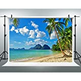 Maijoeyy 7ftx5ft Tropical Beach Photography Backdrops Hawaii Beach Photography Props Photo Backdrop for Picture S-572