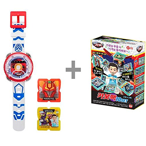 Hello Carbot Watch VER.2 + Carbot Watch Bundle 10 Set / Korean Animation Toy / Wrist Watch Toys for Transformer Robot Summoning