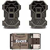 Stealth Cam PXP18 Pro Trail Camera (18 MP, 720p HD Video) w. LCD Viewing Screen, 2-Pack with USB Reader