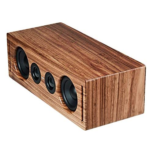 chollos oferta descuentos barato RÖTH MYERS BOSK Speaker HiFi Altavoz Wifi Bluetooth Altavoz de estantería Diseño Único en Madera de Zebrano 100 Natural Multiroom y Multichannel Spotify Airplay DLNA Óptica 70W
