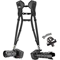 BlackRapid Breathe Double Camera Harness with bonus ZAYKiR FastenR