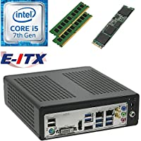 E-ITX ITX350 Asrock H270M-ITX-AC Intel Core i5-7400 (Kaby Lake) Mini-ITX System , 8GB Dual Channel DDR4, 960GB M.2 SSD, WiFi, Bluetooth, Pre-Assembled and Tested by E-ITX