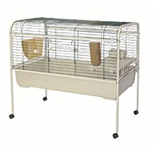 Marchioro Susan 102 Cage for Small Animals with Wheels, 40.25-Inch, Beige/Green