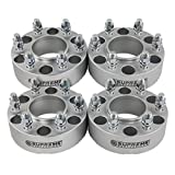 """Supreme Suspensions - (4pc) 1999-2016 GMC Sierra 1500 2"""" Hub Centric Wheel Spacers 6x5.5"""" (6x139.7mm) with Lip + M14x1.5 Studs [Silver]"""