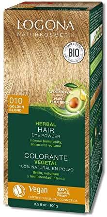 Logona Herbal Hair Dye Golden Blond Natural Vegan Plant Based 3.5 Ounce