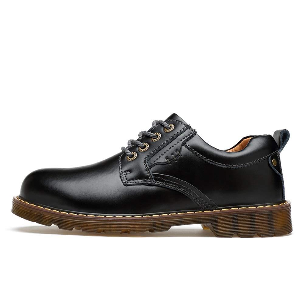 Ruanyi Mode Oxford Lässige Komfortable Retro Abwischen Farbe Farbe Farbe Runde Kappe Laufsohle Arbeit Formale Schuhe Für Männer (Farbe   Schwarz, Größe   44 EU) e34619