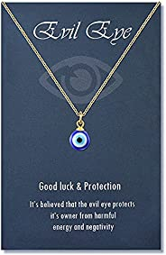 Lanqueen Evil Eye Pendant Necklace Chain Lucky Protection Jewelry Gift for Women Girls Daughter Mother Best Fr