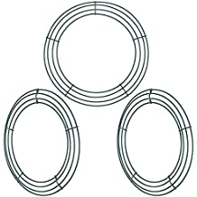 Sumind 3 Pack Wire Wreath Rings Wire Wreath Frame for New Year Valentines Decoration, 12 Inches, Dark Green