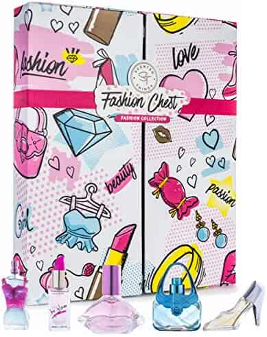 Girls Perfume Body Mist Fragrance Gift Set - Perfect Holiday Gift Set for Young Girls, Tweens and Pre-Teens - 5 Piece Fashion Collection FASHION CHEST