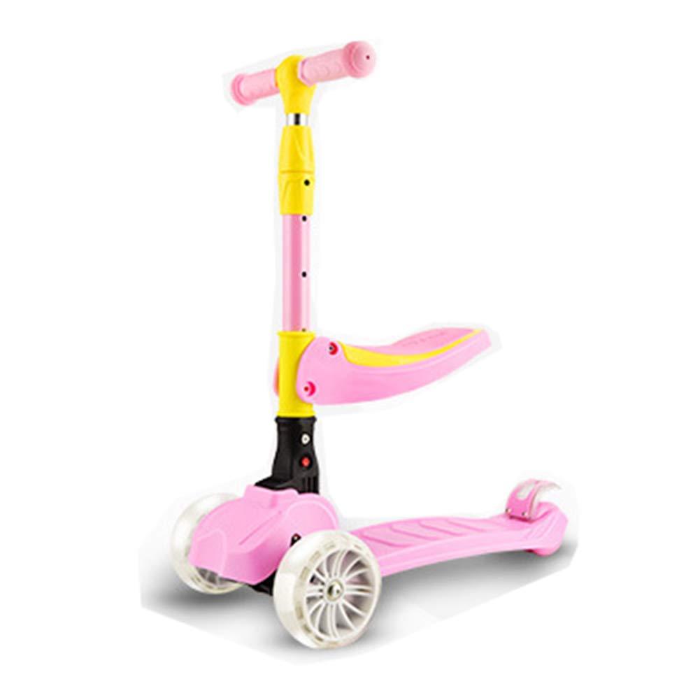 artículos de promoción JIAAE Patinete para Niños Al Aire Aire Aire Libre De Viaje Portátil Plegable Adecuado para Niños De 1-10 Años,Pink  Las ventas en línea ahorran un 70%.