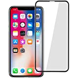 IPhone X Screen Protector Toptrade IPhone X 5D Curved Anti-Bubble Ultra HD Tempered Glass Case friendly Screen Protector for IPhone X (White) (Black)