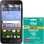 Total Wireless Carrier-Locked TCL LX 4G LTE Prepaid Smartphone