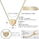 Fettero Tiny Gold Initial Heart Necklace Choker