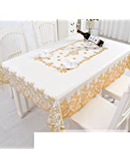 European Style Dining Table Mat Bronzing Pvc Plastic Waterproof Oil Proof Burn Proof Disposable Oblong Table Cloth Table Cloth C 135x180cm 53x71inch