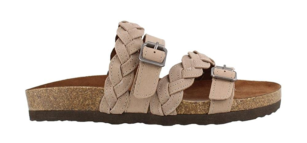 Grey Leather Women's White Mountain, Holland Sandals