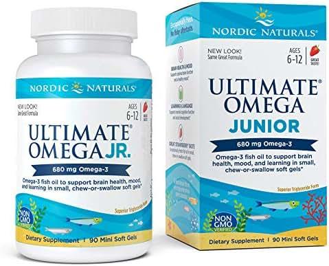 Nordic Naturals - Ultimate Omega Junior, Support for a Healthy Heart, 90 Soft Gels (FFP)