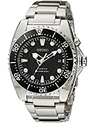 Seiko Mens SKA371 Kinetic Dive Analog Japanese Quartz Stainless Steel Silver Watch