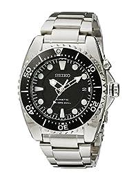 Seiko Men's Kinetic Dive -Tone Watch Black SKA371