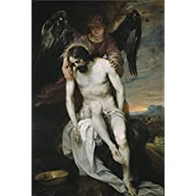 Perfect effect canvas ,the Imitations Art DecorativePrints on Canvas of oil painting 'Cano Alonso Dead Christ held by an Angel 1646 52 ', 12 x 18 inch / 30 x 45 cm is best for Nursery decoration and Home gallery art and Gifts