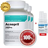 Acnepril 3 Pack and 2 Acnevva - Best Acne Pills and Spot Treatment Serum  - Best New Acne Supplement