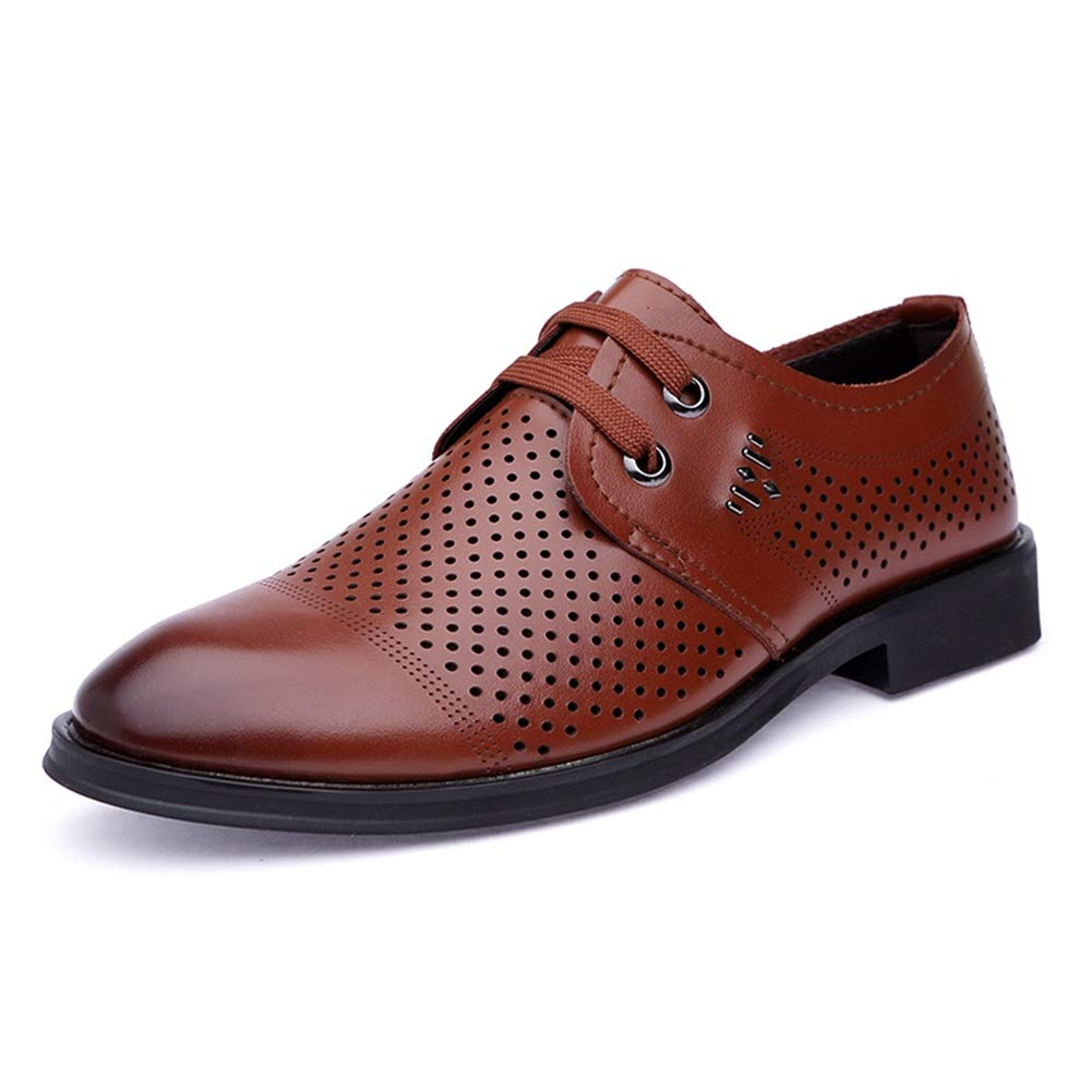 HYF Herren Herren Herren Oxford Oxford Casual Hohl bequeme Lederschuhe atmungsaktiv Sommer Stil formale Schuhe Schuhe für Männer  1fa23f