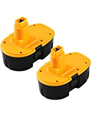 3.6Ah DC9098 Replacement for Dewalt 18V Battery XRP DC9096 DC9099 DE9096 DE9098 DW9096 2Packs