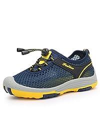 SAGUARO Kids Hiking Climbing Sneakers Mesh Breathable Running Shoes Mutifunctional Aqua Water Shoes(Toddler/Big Girls/Little Boys)