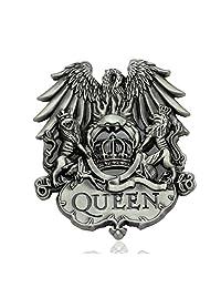 Q&Q Fashion Men Western Vintage Silver Queen ROCK BAND Freddie Mercury Lion Eagle Belt Buckle