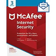 McAfee Internet Security - 3 Devices [Activation Card by Mail]