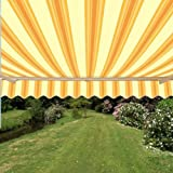 ALEKO Retractable Patio Awning 10ft x 8ft (3m x 2.5m) Multistripe Yellow