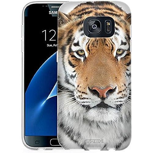Samsung Galaxy S7 Case, Snap On Cover by Trek Orange Tiger One Piece Slim Case Sales