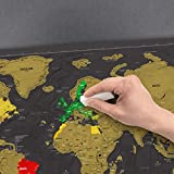 Scratch off Map World Poster Deluxe Edition