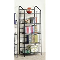 Five Shelf Metal Bookcase