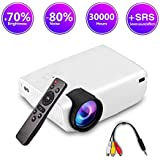 ImagePro Mini Portable LED Projector,High Brightness,HD 1080P 176 inch Large Display,Ultra Thin,Indoor/Outdoor Home Theater,Video Games,HDMI,USB,SD Card,AV,Xbox,VGA