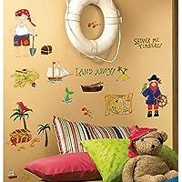 45 New TREASURE HUNT WALL DECALS Pirates Bedroom Stickers...