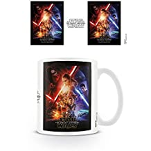 Set: Star Wars, Episode VII, The Force Awakens, One Sheet Photo Coffee Mug (4x3 inches) And 1x 1art1® Surprise Sticker