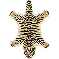 Tiger-Skin Yogic Asana - Pure Wool - 121 Knots Per Sq. Inch