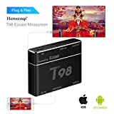 Screen Mirroring,T98 EZcast USB to HD Converter S8 Pro Plug&Play HD/VGA Converter for iPhone/ Android Black