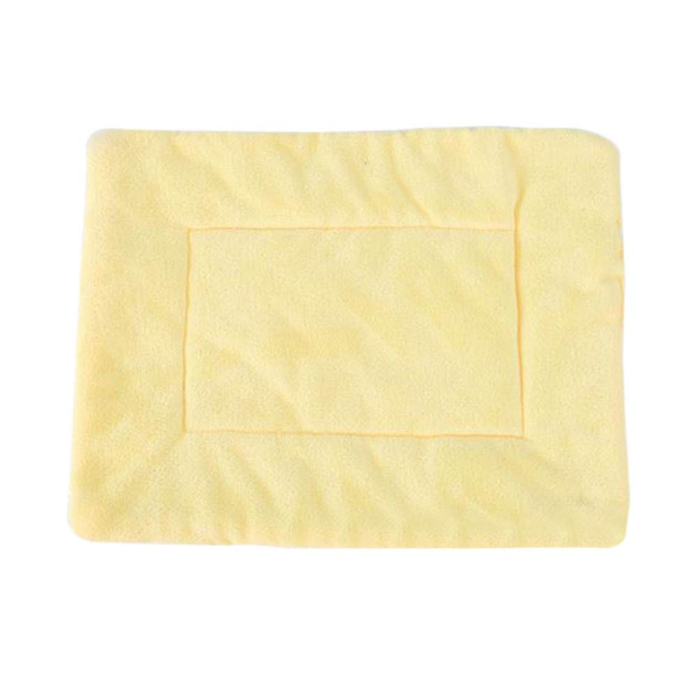 yellow M CZHCFF Paws 4 soft warm dog hair thickening dog bed cat bed mat for dog