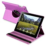 360-degree Swivel Leather Case compatible with Apple? iPad? 2, Purple