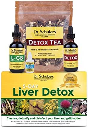 Dr. Schulze's | 5-Day Liver Detox | Cleanses & Disinfects Gallbladder | Herbal Dietary Supplement | Weight Loss Aid | Protects Liver Cells & Eliminates Harmful Contaminants | Flushes Toxins