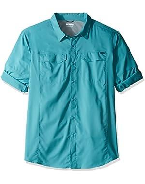 Men's Big-Tall Silver Ridge Lite Long Sleeve Shirt, Teal, X-Large