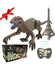 SAKHRI PARIS® | Op afstand bedienbare dinosaurus, joystick speelgoed, quick walk, brullen, heftig, realistische vechten, dier, cadeau, verjaardag, jongens, meisjes, educatief spel