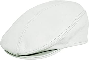 cc56f9a9 Emstate. Pebbled Cowhide Leather Ascot Ivy Driver Flat Golf Cap Made in USA