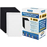 Complete Premium 2 True HEPA Replacement Filter Pack Including 8 Activated Carbon Pre Filters Precut for HPA100 compatible with Honeywell Air Purifier 090, 094, 100, 104, 105, HA106 & Filter R by VEVA