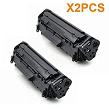 AceToner (TM) 2PCS Compatible Laser Toner Cartridge for HP Q2612A 12A Compatible with HP LaserJet HP LaserJet 1010, 1012, 1018, 1020, 1022, 1022n, 1022nw, 3015, 3020, 3030, 3050, 3052, 3055, M1319, M1319f