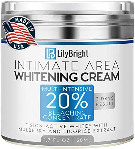 Whitening Cream With Alpha Arbutin - Made in USA - Dark Spot Corrector For Face And Sensitive Skin - Provides Effective Bleaching for Private Parts, Sun Spots, Age Spots & Melasma Treatment - 50 ML