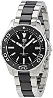 Tag Heuer Aquaracer Black Dial Steel and Ceramic Ladies Watch WAY131A.BA0913
